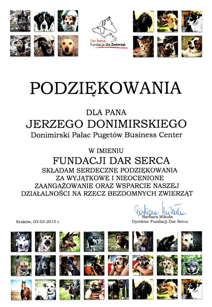 Dar Serca - Fundacja dla Zwierząt_Podziękowanie_03.03.2015